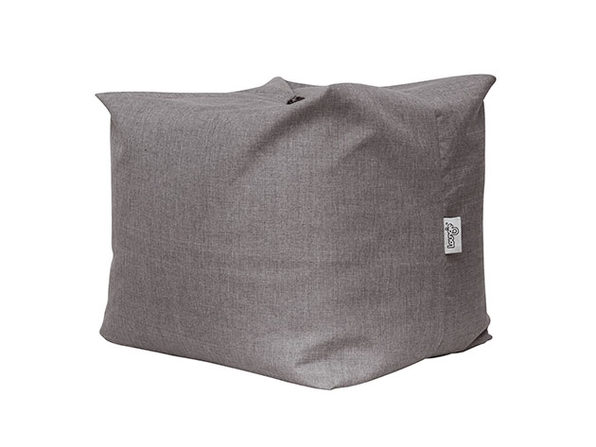 Loungie® Magic Pouf 3-in-1 Convertible Bean Bag (Grey Linen)