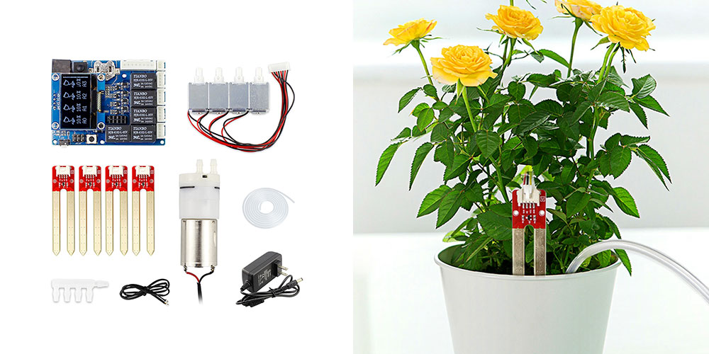 A smart plant watering kit