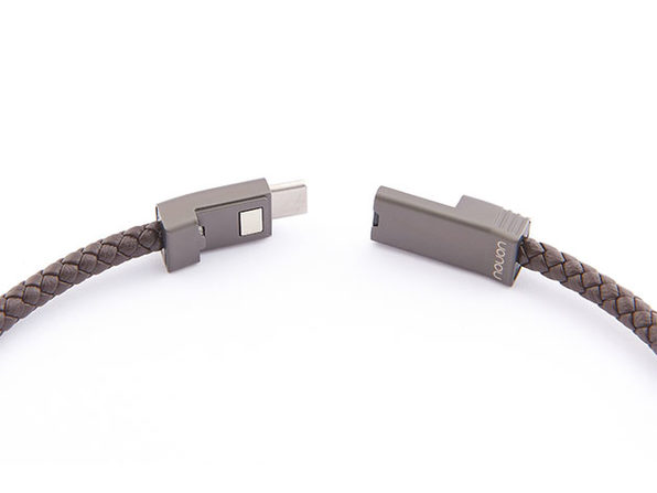 NILS 2.0 Solo: Fast Wearable USB-C Cable (Chocolate/ L)