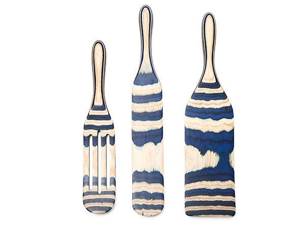 Mad Hungry 3-Pc Pakka Wood Spurtle Set (Blue)
