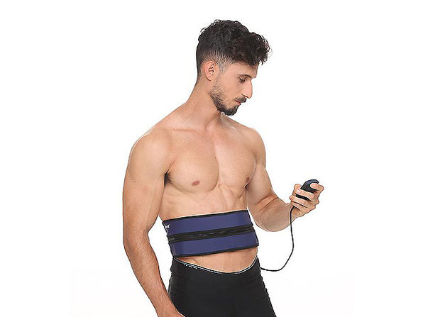 Zip & Tone: 2-in-1 Belt to Lift and Firm Your Abs & Butt (Blue)