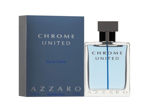 Azzaro Chrome United Men's Eau De Toilette Cologne Spray, Invigorating, Comforting and Refined, 1.7 Fluid Ounces