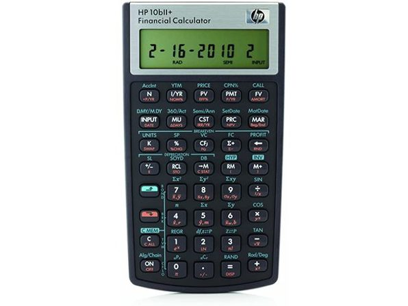 HP 10bII+ Smart Choice Financial Calculator for Business and Finance, Black - Product Image