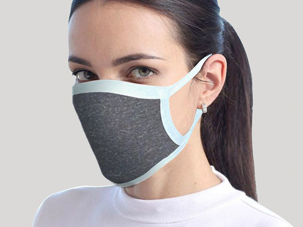 Reusable Face Mask 2-Pack Gray - Product Image