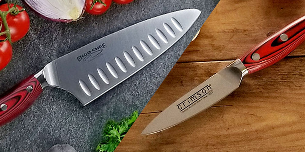 CRIMSON G10 2-Piece Chef & Paring Knife Set, on sale for $55.24 when you use coupon code DEC15 at checkout
