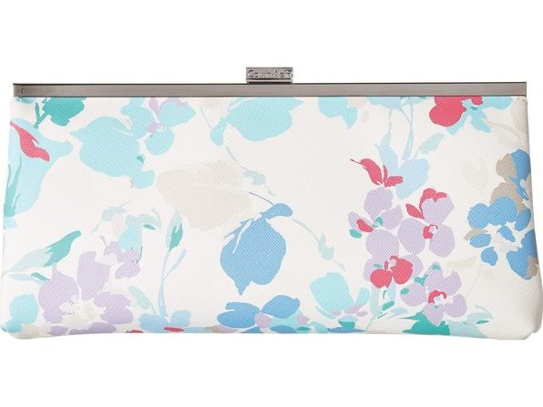 Calvin Klein Pastel Floral Saffiano Leather Clutch/Handbag