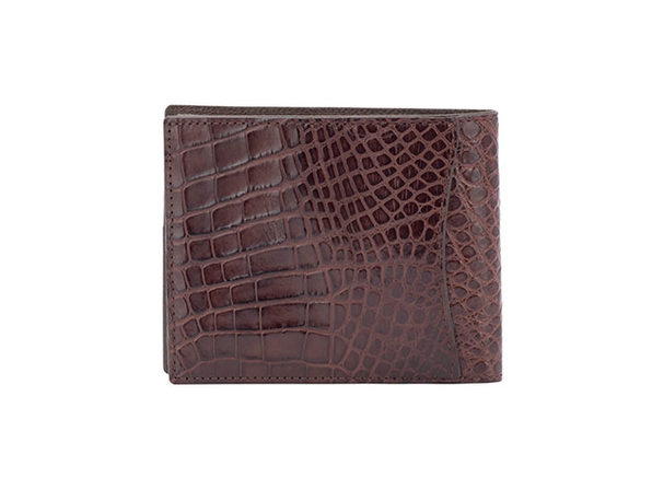 Andre Giroud exotic alligator wallets - kango brown - Product Image