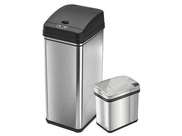 iTouchless 13-Gallon & 2.5-Gallon Automatic Sensor Trash Cans
