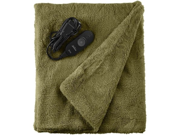 Sunbeam LoftTec Ultra-Soft Heated Electric Throw Blanket - Sage Green - Sage