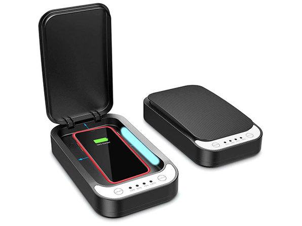 SaniCharge Phone UV Sanitizer (Black/2-Pack)