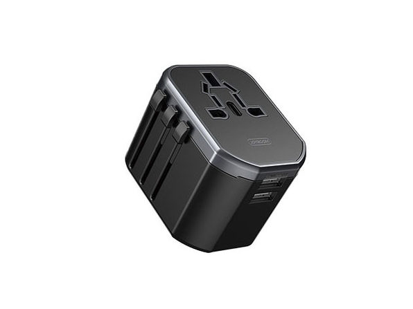 Universal Multi-Nation Travel Charger - Black - Product Image