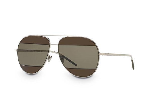 Dior Unisex Aviator Split Sunglasses (Gunmetal/Brown)