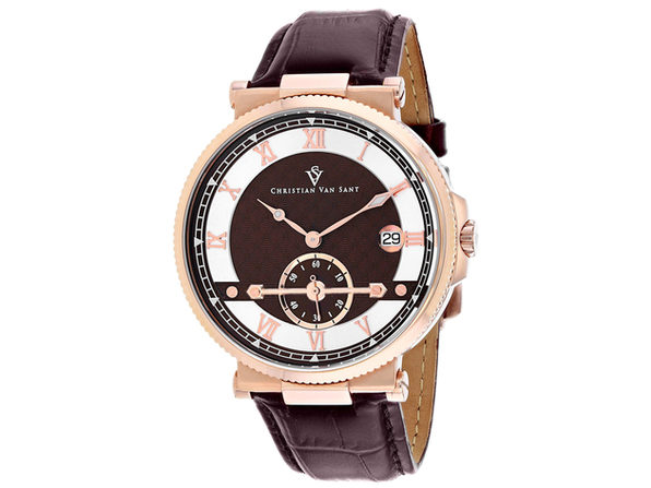 Christian Van Sant Men's Clepsydra Brown Dial Watch - CV1704