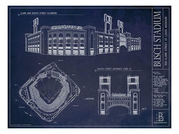"""Unframed Print 18""""x24"""":  Busch Stadium, St. Louis Cardinals"""