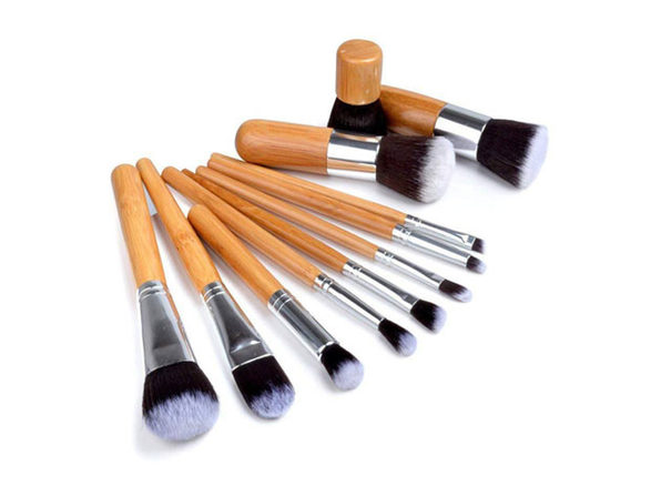d83b81136eb0 Lucky Beauty Bamboo Makeup Brushes: 10-Piece Set | Joyus