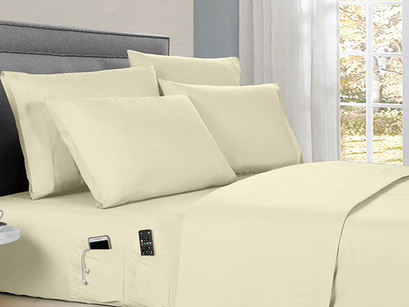 Kathy Ireland 6-Piece Smart Sheet Set (Ivory)