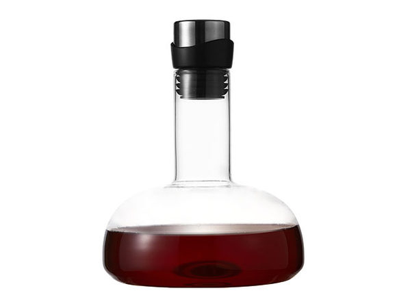 Eravino Handblown Crystal Wine Carafe + Holder Lid