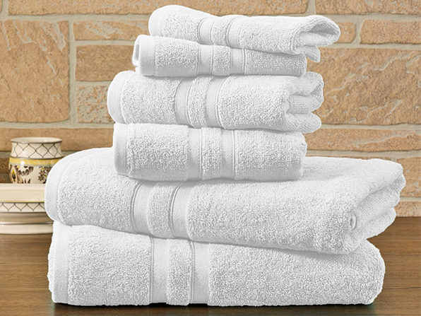 6-Piece Bibb Home 100% Egyptian Cotton Towel Set