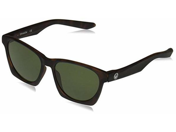 Dragon Alliance Post Up Sunglasses Tortoise Frames with Green Lens - Brown