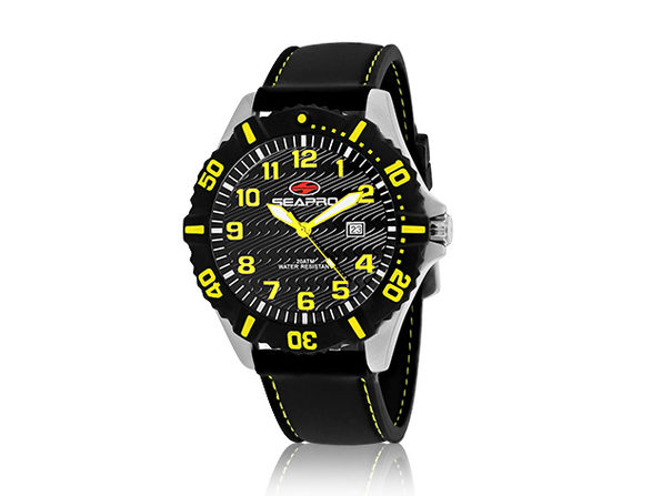 Seapro Men's Trooper Watch (Black/Yellow)