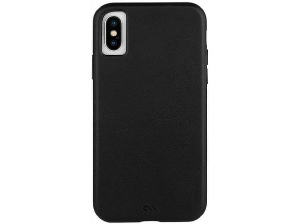 Case-Mate Leather Case for iPhone X and XS, Classic Protective Design, Genuine Leather, Black (New Open Box)