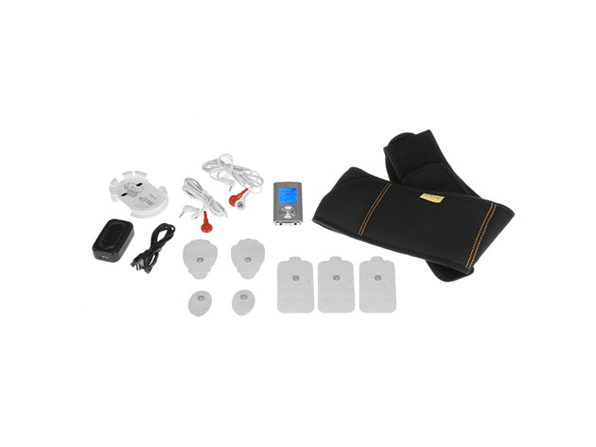 Palm NRG Digital Pulse Massager & Workout Belt Combo Set