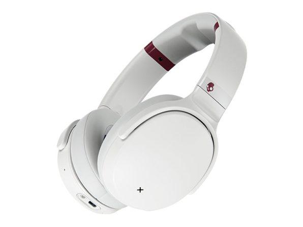 Skullcandy Venue Active Noise Canceling Wireless Headphones (White/Crimson)