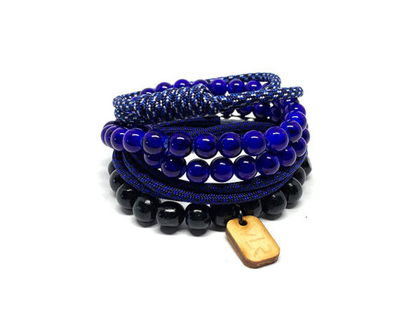 Diamond Variety Bracelets: 4-Pack (Blue)