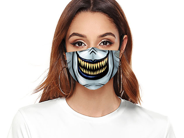 Halloween Reusable Cloth Face Mask (Monster), on sale for $14.99 (40% off)