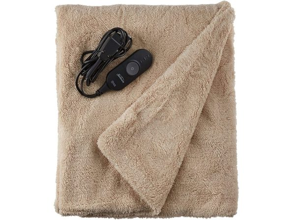 Sunbeam LoftTec Ultra-Soft Heated Electric Throw Blanket - Sand - Sand