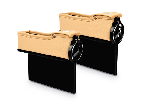 Leather Car Console Side Pocket Organizer: 1 Pair