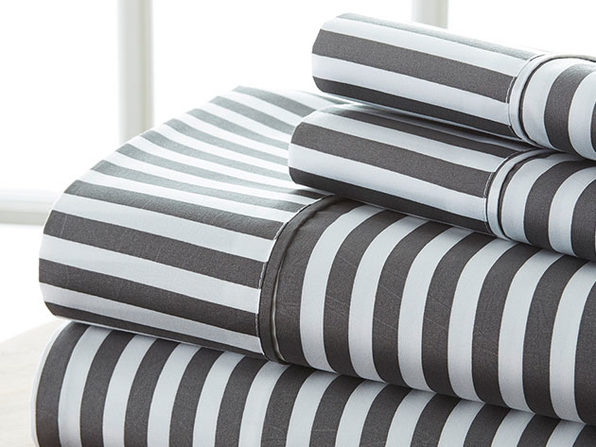 4-Piece Striped Sheet Set