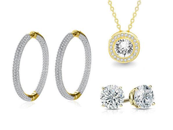 Pave Jewelry 3-Piece Set with Swarovski Crystals