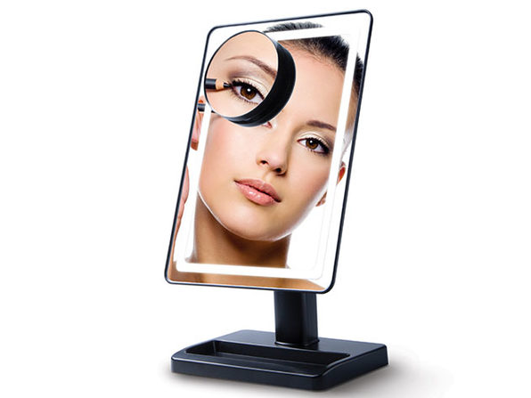LightTouch Dimmable Makeup Mirror with 10x Magnification