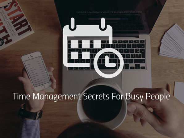 Time Management Secrets For Busy People - Product Image