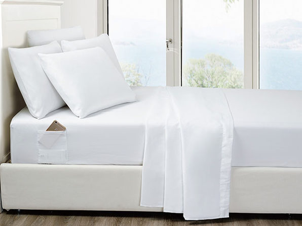 6-Piece White Ultra-Soft Bed Sheet Set With Side Pockets