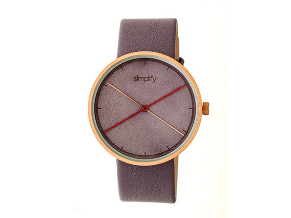 Simplify 4100 Unisex Watch (Lavender/Rose Gold)