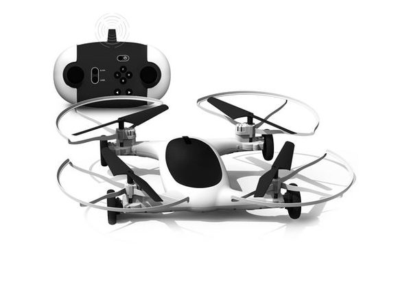 Sharper Image Dual Function Rechargeable 7 inches Remote Control Fly and Drive Car Drone (New Open Box)