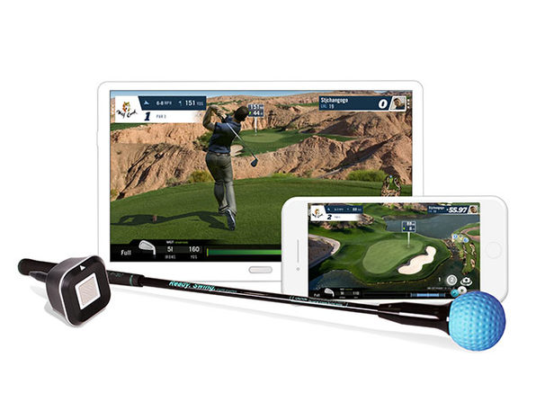 PhiGolf: Mobile & Home Smart Golf Simulator with Swing Stick (2-Pack)