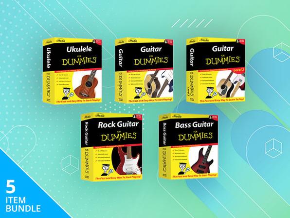Guitar, Bass & Ukulele For Dummies® Bundle
