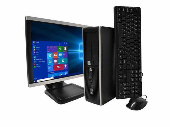 """HP Pro 6300 Desktop PC, 3.2 GHz Intel i5 Quad Core Gen 3, 8GB DDR3 RAM, 500GB SATA HD, Windows 10 Professional 64 Bit, 22"""" Widescreen Screen (Renewed)"""