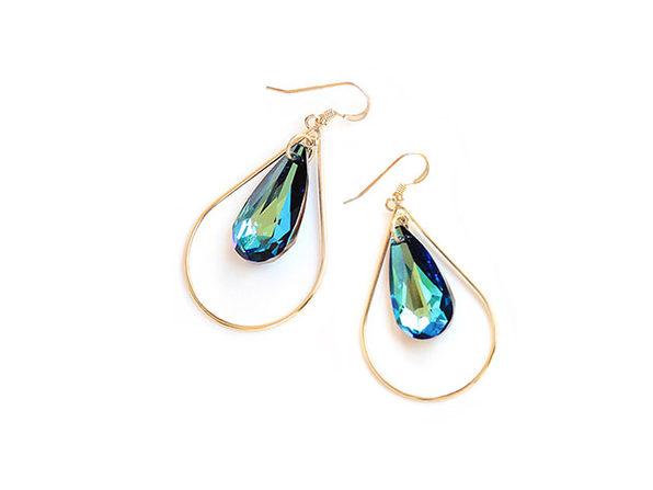 Sonia Hou SELFIE Swarovski Crystal Earrings (Mermaid Blue)