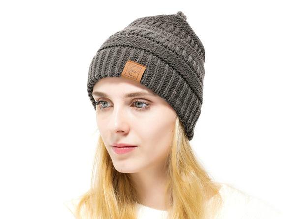 CC Chic Winter Knit Beanie (Charcoal)  ce17bb7d20b