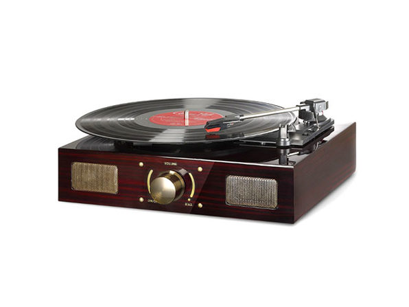 LuguLake Vinyl Record Player (High Gloss Wood)