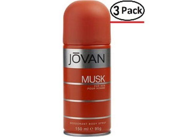 JOVAN MUSK by Jovan DEODORANT BODY SPRAY 5 OZ (Package of 3) - Product Image