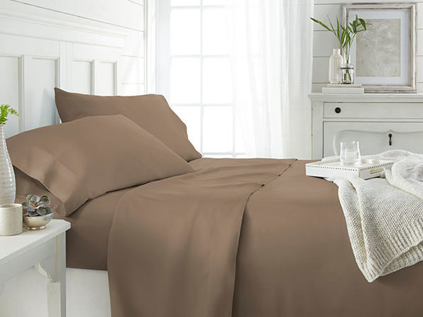 4-Piece Luxury 100% Rayon Bamboo Sheet Set // Taupe (King)