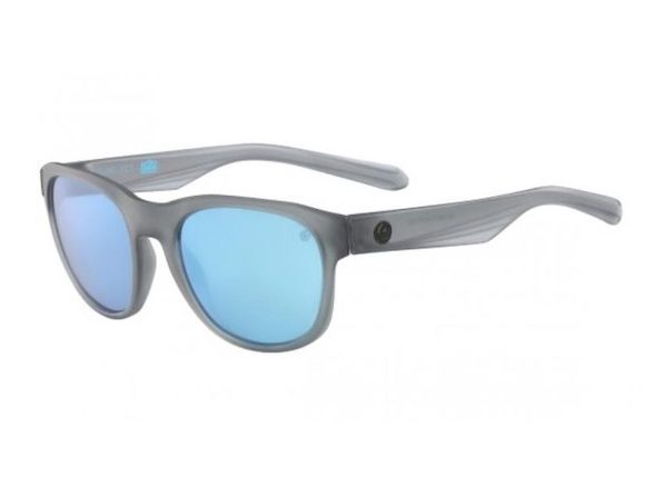 Dragon Alliance Subflect H2O Polarized Sunglasses Crystal Grey Frame with Blue Lens - Grey