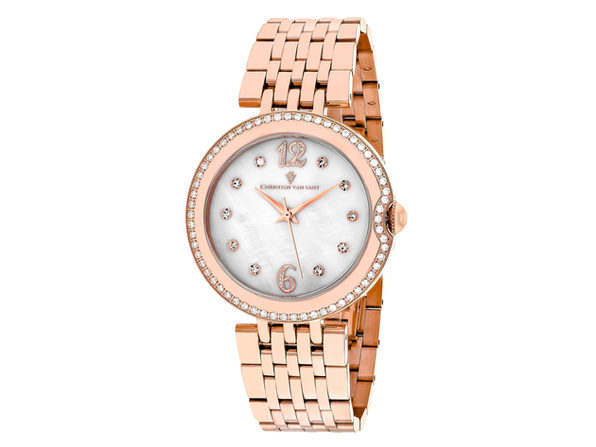 Christian Van Sant Women's Jasmine White MOP Dial Watch - CV1612